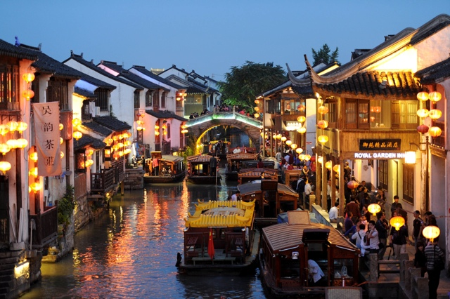Shantang Street off of the Grand Canal of Suzhou - photo credit Travel Suzhou - Win a Trip to Suzhou, the Venice of China