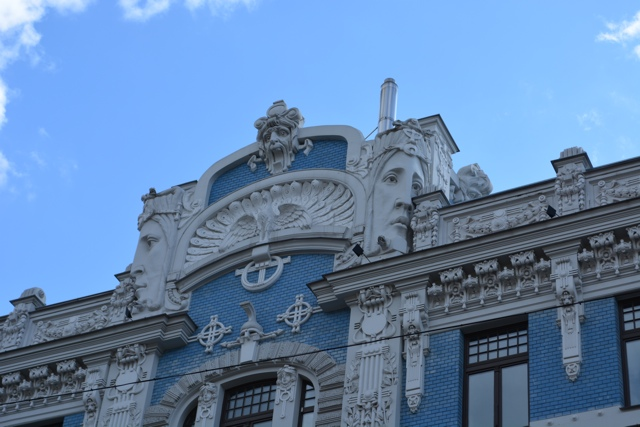 close up of an art nouveau buidling in Riga, Latvia - Best Tips for Visiting Riga, Latvia #video