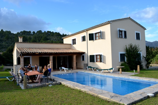enjoying my luxury villa rental with friends in Mallorca -Staying in a Luxury Villa with Travelopo in Mallorca, Spain
