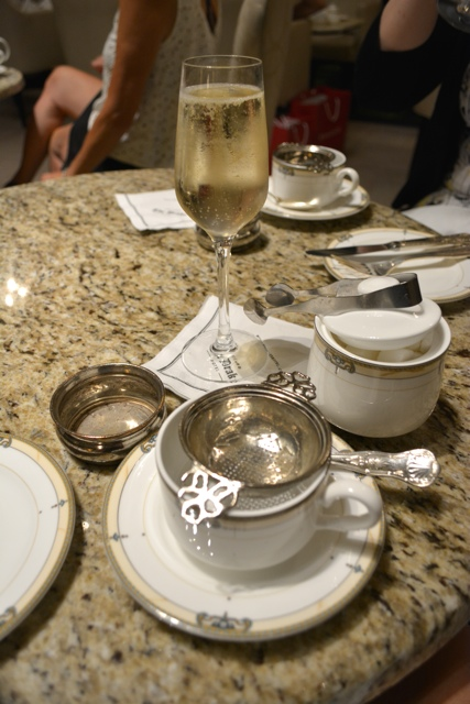 champagne bubbly sparkling afternoon tea at the Palm Court in the Drake Hotel - Afternoon Tea at The Drake Hotel in Chicago