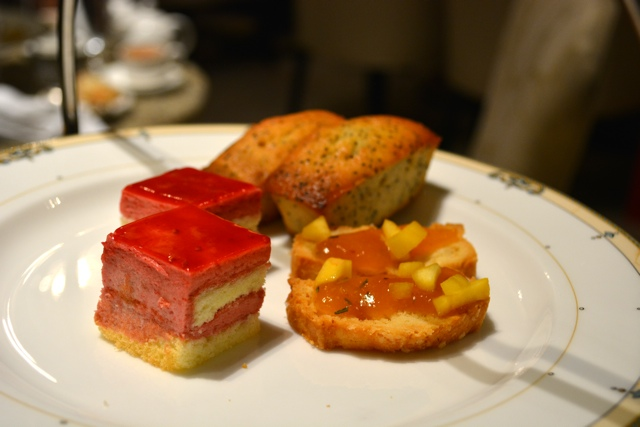festive petit fours at afternoon tea in the Palm Court a the Drake Hotel - Afternoon Tea at The Drake Hotel in Chicago