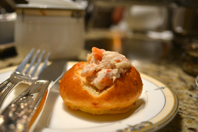 lobster rolls at afternoon tea in the Palm Court - Afternoon Tea at The Drake Hotel in Chicago