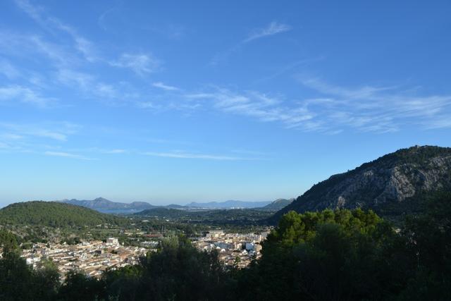view of Mallorca from the top of the Calvari steps in Pollenca - Visiting the small town of Pollensa on the island of Mallorca, Spain