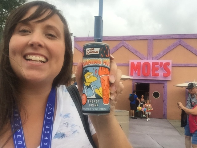 Flaming Moe's at Moe's Tavern in Simpsons Land - Universal Orlando Resort VIP Tour Highlights