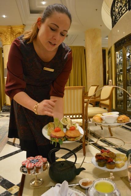 Savoury sandwich description - Afternoon Tea at The Ritz-Carlton, Berlin