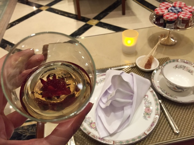 afternoon tea with champagne - Afternoon Tea at The Ritz-Carlton, Berlin