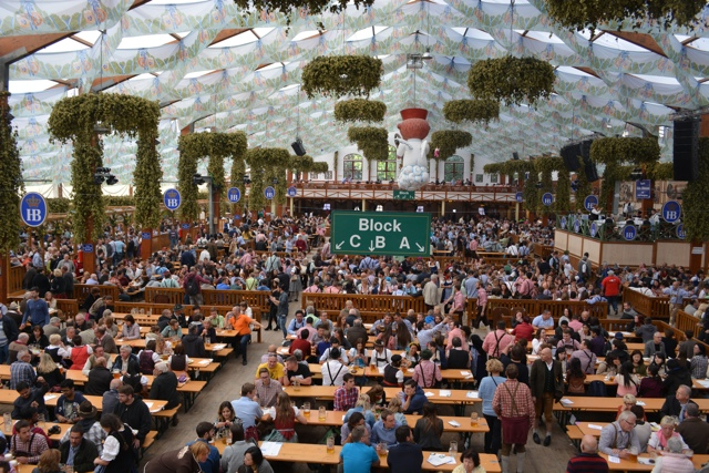 early in the afternoon mid week the Hofbrauhaus isn't that crowded yet - Best Tips for Celebrating Oktoberfest in Munich