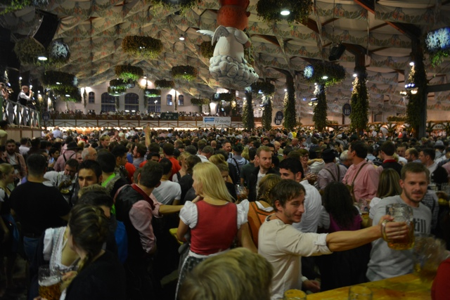 huge crowds of people at oktoberfest in munich - Best Tips for Celebrating Oktoberfest in Munich