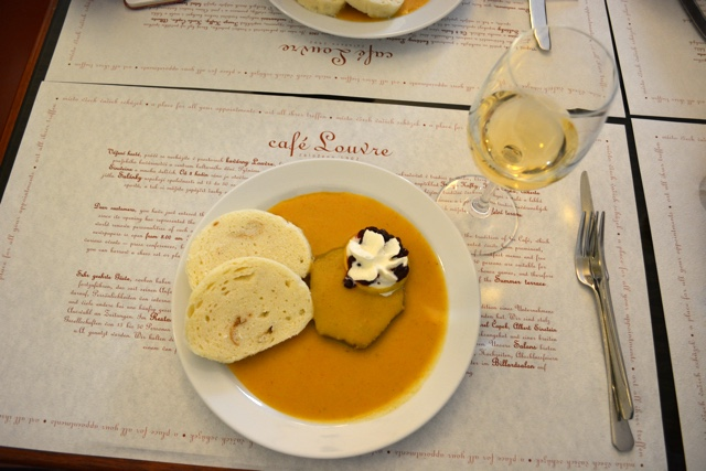 a traditional Czech meal of svickova - A Delicious Food Tour in Prague with Eating Europe