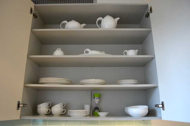 fully stocked cupboards with everything you need - Cheval Gloucester Park Luxury Apartments London