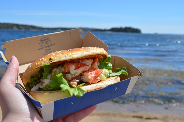 mclobster lobster roll from McDonald's by the atlantic ocean - What is the McDonald's McLobster?