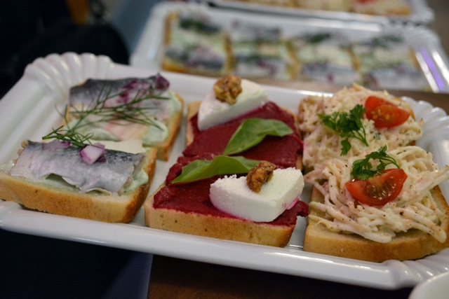 open faced sandwich from Sisters in Prague - A Delicious Food Tour in Prague