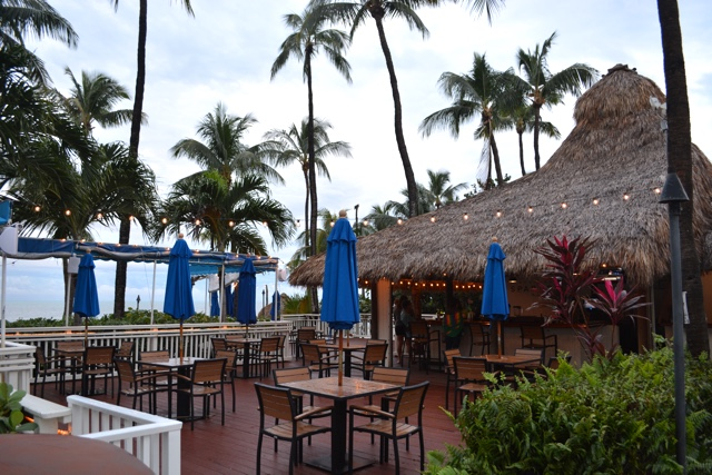 tiki hut, sparrows rum bar by the pool - Amara Cay Resort Review in the Florida Keys