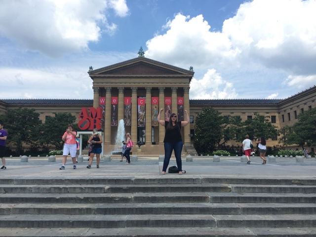 cailin pretending to be rocky balboa in front of philadelphia's art musem - Philadelphia As Seen Through Instagram Photos