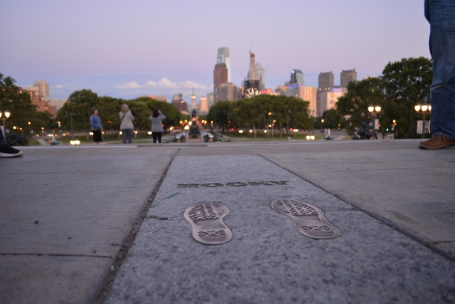 the famous Rocky Balboa steps and foot prints at the Philadelphia Art Museum - Philadelphia As Seen Through Instagram Photos