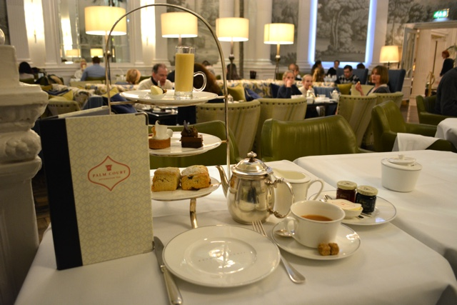 afternoon tea and desserts are served in the palm court - Afternoon Tea at the Balmoral Hotel in Edinburgh, Scotland