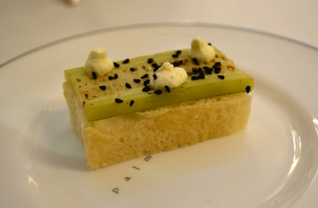 focaccia roasted cucumber creme fresh black onion seeds - Afternoon Tea at the Balmoral Hotel in Edinburgh, Scotland