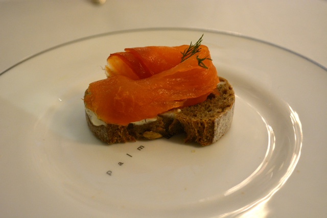 homemade smoked salmon on brown toast - Afternoon Tea at the Balmoral Hotel in Edinburgh, Scotland