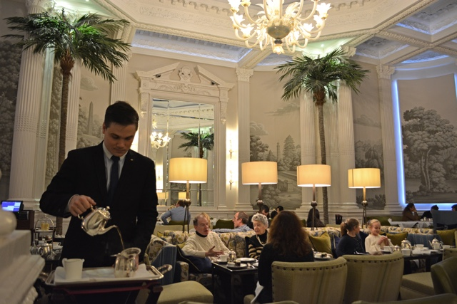 my tea being made and steeped table side - Afternoon Tea at the Balmoral Hotel in Edinburgh, Scotland