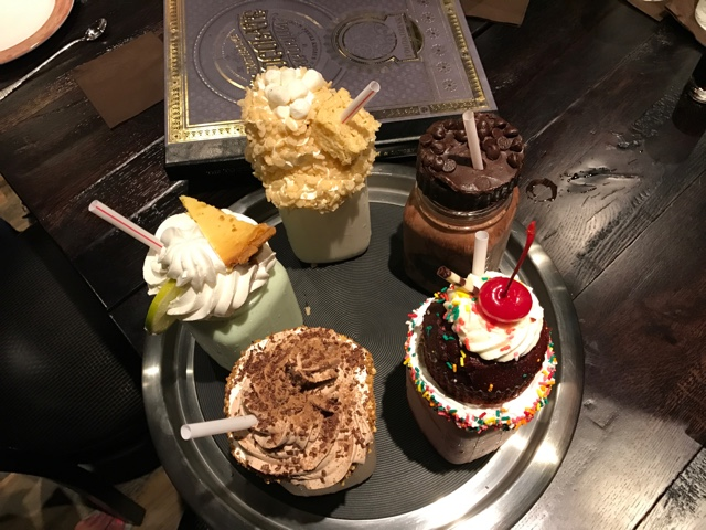 a sample of the artisan milkshakes at the toothsome chocolate emporium and savoury feast kitchen - A Review of The Toothsome Chocolate Emporium at Universal Orlando