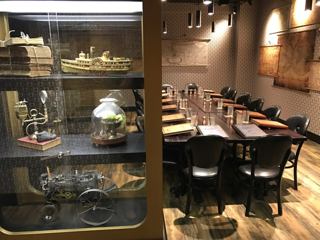 one of the private dining rooms at the toothsome chocolate empoium and savoury feast kitchen - A Review of The Toothsome Chocolate Emporium at Universal Orlando
