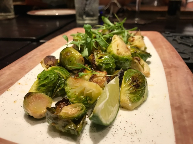 roasted brussel sprouts appetizer tempations - A Review of The Toothsome Chocolate Emporium at Universal Orlando