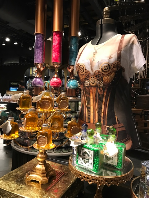 steampunk themed candy and clothes - A Review of The Toothsome Chocolate Emporium at Universal Orlando