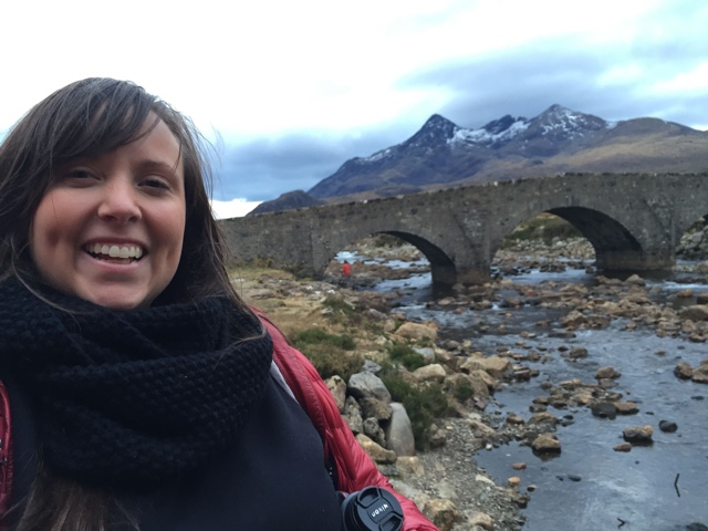 Cailin O'Neil on the Isle of Skye, Scotland black cuillin mountains - Edinburgh to the Isle of Skye Tour Highlights