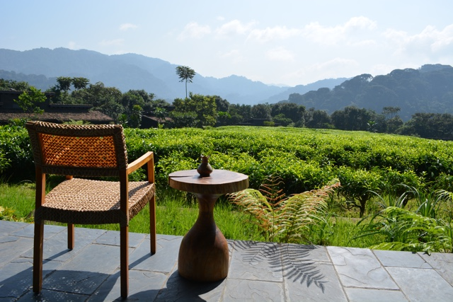 a view overlooking the property and tea plantation from the dinning room - Nyungwe Forest Lodge, Rwanda Review