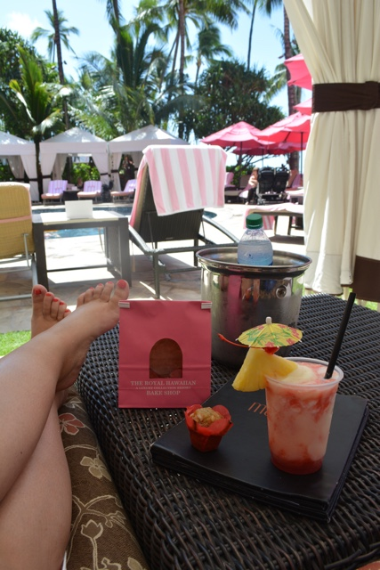 cabana rental lounge by the pool the royal hawaiian - Touring Oahu, Hawaii in a Minute