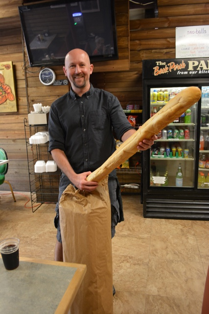 gynormous po boy french bread - Review of the Doctor Gumbo Food Tours in New Orleans