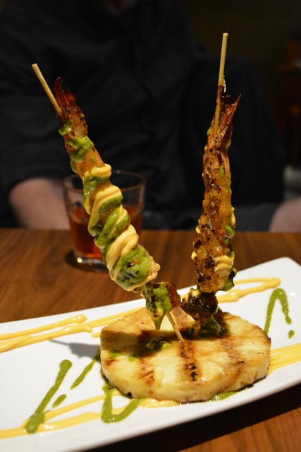sobou shrimps and taso pinchos - Review of the Doctor Gumbo Food Tours in New Orleans
