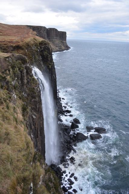 waterfall at Kilt Rock Staffin - Edinburgh to the Isle of Skye Tour Highlights
