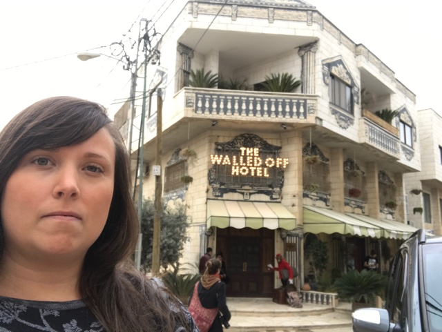 cailin at Banksy's Walled Off Hotel - How to Get to Banksy's Walled Off Hotel