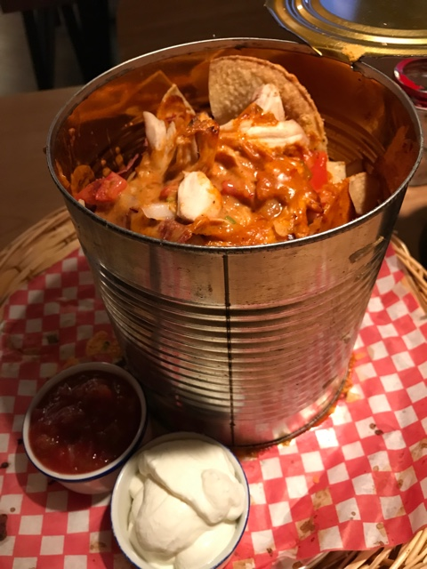 can o nachos from High Rollers restaurant and bowling alley - Best Tips for Visiting Banff, Alberta in one day