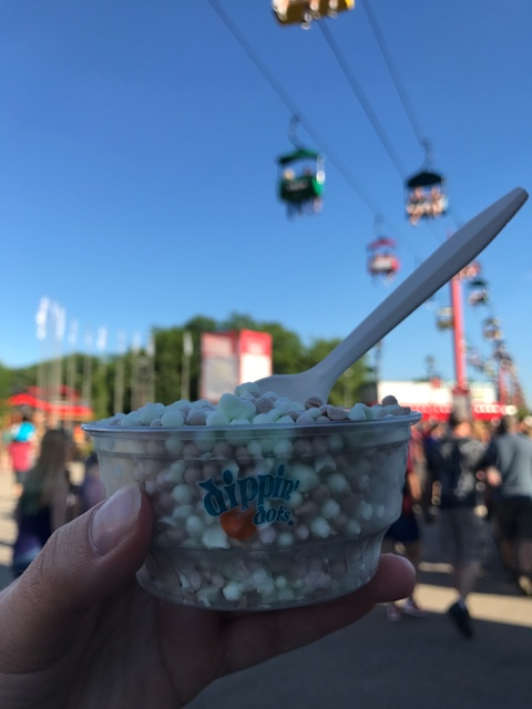 mint chocolate chip dippin dots at Summerfest - First-Timers Guide for Summerfest in Milwaukee