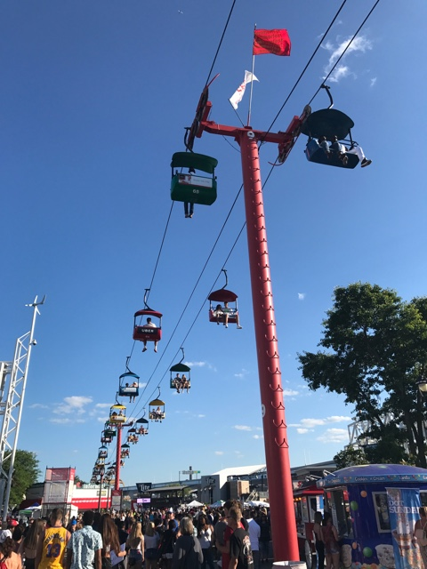 soar above the clouds in the summerfest skyglider - First-Timers Guide for Summerfest in Milwaukee