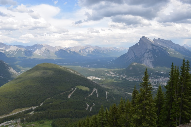 the view from the top of the Mount Norquay chairlift - Best Tips for Visiting Banff, Alberta in one day