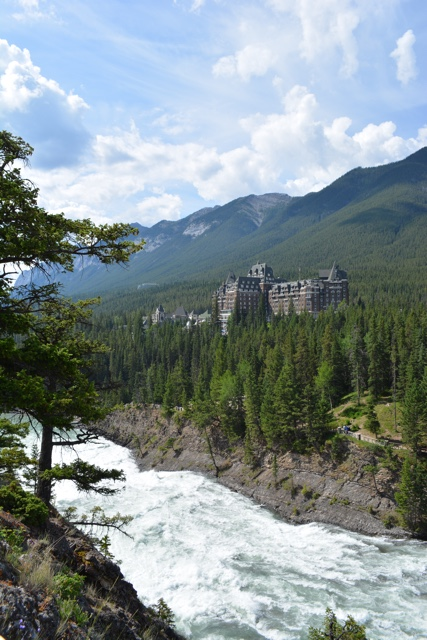 the view of the fairmont banff springs hotel overlooking bow falls - Best Tips for Visiting Banff, Alberta in one day