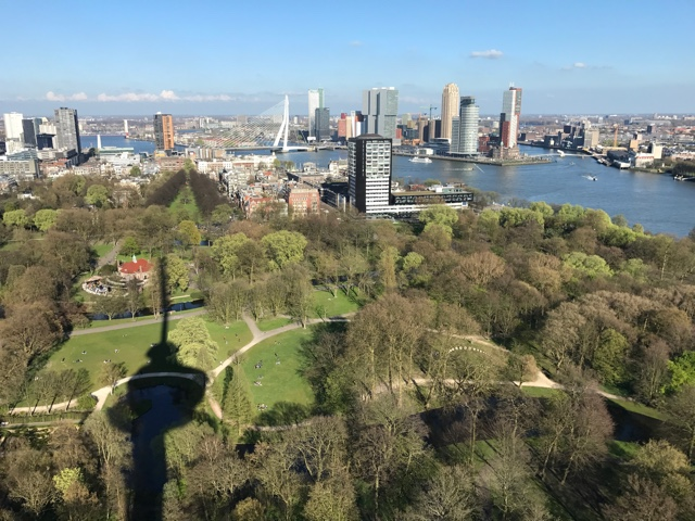 city skyline views of Rotterdam from the Euromast tower - First-Timers Guide for Visiting Rotterdam