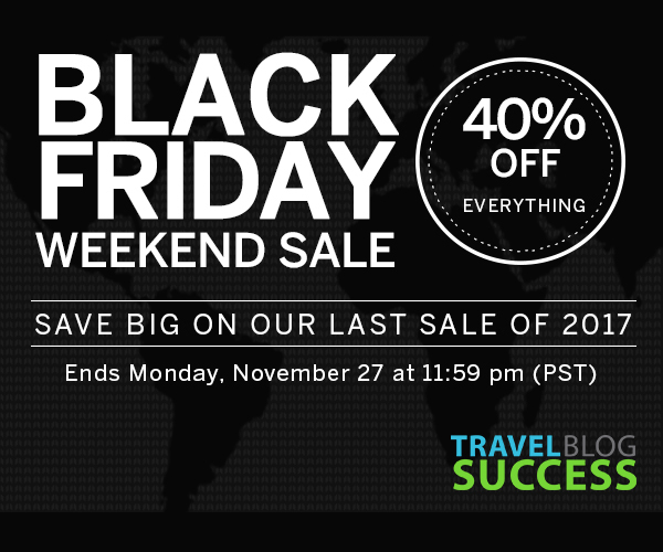 Travel Blog Success Black Friday Sale - The Travel Lovers Perfect Holiday Gift Guide