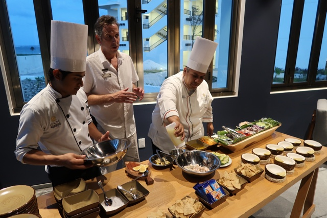 ceviche making class with the head chef - Ventus at Marina El Cid Hotel Review