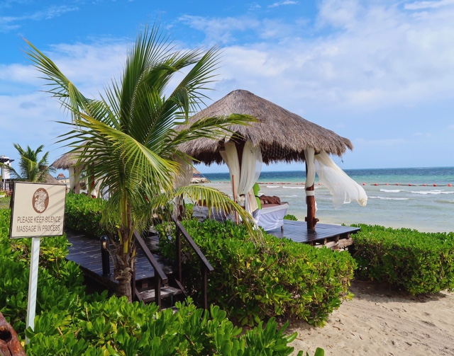 enjoy a private massage in a cabana on the beach - Ventus at Marina El Cid Hotel Review