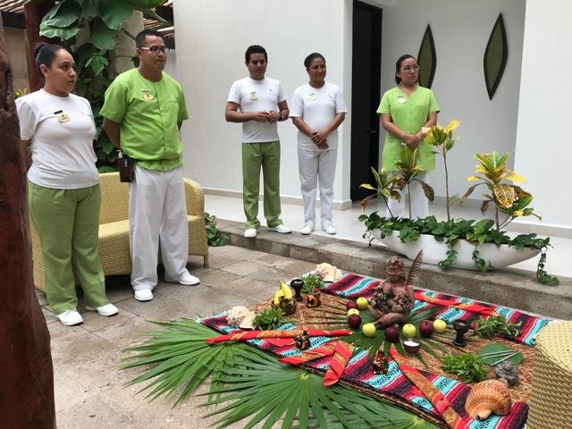 the beginning of our Kukulcan Massage at marina el cid - Ventus at Marina El Cid Spa and Beach Resort Hotel Review