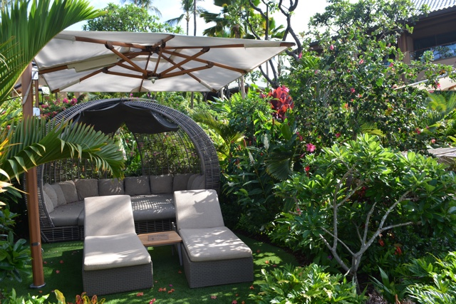 a private pool sanctuary nestled amongst the gardens - Four Seasons Resort Lanai in Hawaii Review