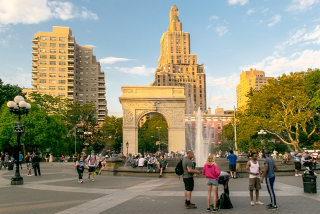 Washington Square Park in Greenwich village manhattan new york