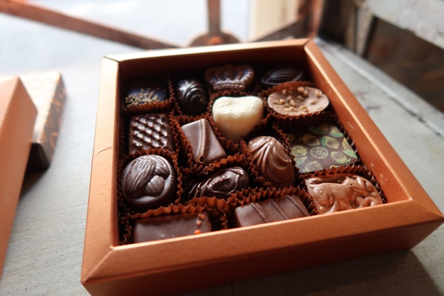 a box of chocolates from the chocolate brothers in bruges belgium