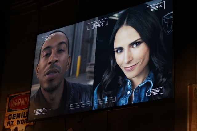 tej and mia video call into the fast and furious break room