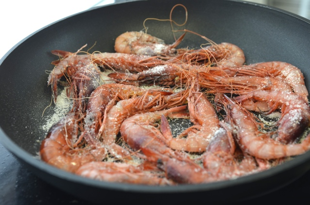 prawns in Girona