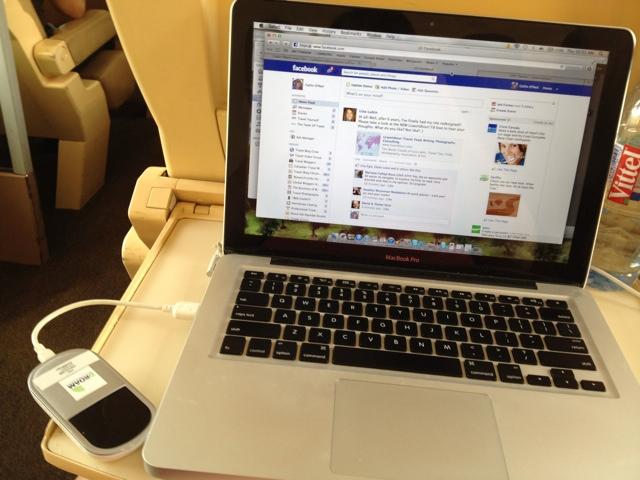 Using mobile wifi Droam on a train